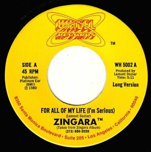 """ZINGARA-for all of my life   wheel records   7""""    (hear)   soul"""