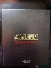 Accomplishment, Personal Development Course, Peter Thomson, audio cassette tapes