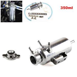Universal 350ml Car Radiator Water Coolant Bottle Aluminum Catch Tank Reservoir