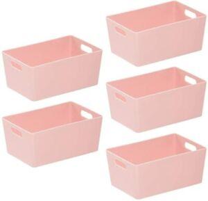 Wham 4.02 Plastic Studio Baskets Office Home Kitchen Tidy Organiser set of 5