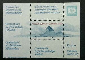 [SJ] Greenland Hafnia 1987 Mountain (miniature sheet) MNH