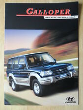 HYUNDAI GALLOPER 1999 sales brochure - German text Swiss Mkt - Mitsubishi Pajero