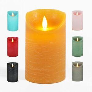 LED Echtwachskerze Kerze Farbauswahl Timer flackernde Wachskerze Kerzen Batterie