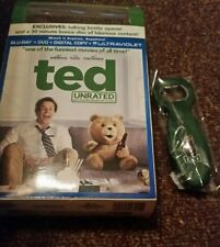 TED Blu Ray DVD With Talking Ted  Bottle Opener