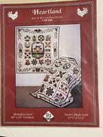 "applique quilt pattern Heartland 12 Blocks 57"" X 71"""