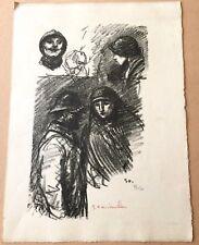 """Téophile Alexandre Steinlen """"Portraits"""" lithographie originale"""