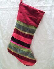 Velvet & Satin Multi-Colored Christmas Stocking