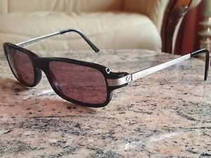 Mens Cartier Silver Black Prescription Glasses  Frames Genuine