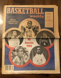 RARE 1983 Michael Jordan 1st Cover Basketball Weekly Ralph Sampson SPECIAL USFL