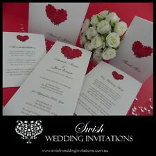 Red Rose Heart Wedding Invitations & Stationery - Samples Invites ONLY $1