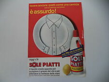 advertising Pubblicità 1972 DETERSIVO SOLE PIATTI