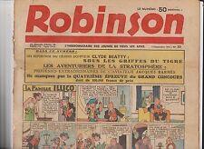 ROBINSON n°20 du 13 septembre 1936. Mandrake, Guy l'Eclair...