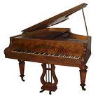 Antique Collard   Collard Burl Wood Art Case 6 7  Grand Piano  1586