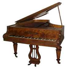 "Antique Collard & Collard Burl Wood Art Case 6'7"" Grand Piano #1586"