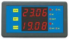 New DC 0-200V 0-750A Blue LED Battery Tester Combo AMP Volt Watt Amp Hour Meter