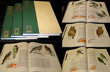 Rassegna completa uccelli d'Europa 3 volumi P Lecaldano S Frugis Rizzoli 1972