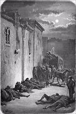 ANDALOUSIE - RELAIS de POSTE à JAÉN - Gravure du 19e (dessin de Gustave Doré)
