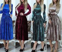 Vestito Donna Abito Longuette Manica Lunga Woman Midi Dress 110392 P