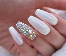 Swarovski Crystal Aurora Borealis Rhinestones Nail Art SS20 Set Of 10 Flat Glass