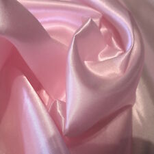 """Light Pink Charmeuse Satin 100% Polyester Fabric Wholesale 60"""" W By 1Yard"""