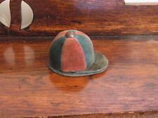VINTAGE PIN CUSHION JOCKEY CAP SEWING COLLECTIBLE NOVELTY EQUESTRIAN RIDING HAT