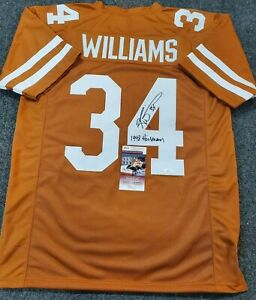 TEXAS LONGHORNS RICKY WILLIAMS SIGNED INSCRIBED AUTOGRAPHED JERSEY JSA COA