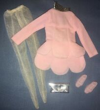 1968 Maddie Mod Mego #1708 Petal Pink Outfit Silver White Dress Shoes Clutch Bag