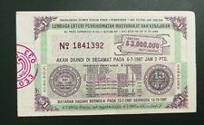 (RM) 1987  Lottery drawn in Segamat