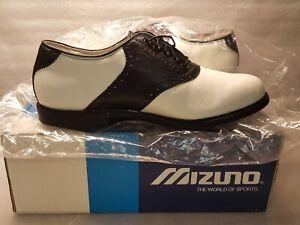 Mizuno Ladies MST Golf Shoes 9324~NIB~Size 11M~White w/ Black Saddle