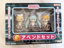 UK SELLER Vocaloid Nendoroid petite Miku Kagamine Len Rin Append Set Japan USED
