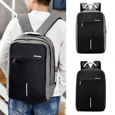 "15"" Men Anti-theft Laptop Backpack USB Charger Password Lock Business School Bag"