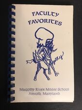 1990 Magothy River Middle School Arnold Maryland MD Cookbook Cook book