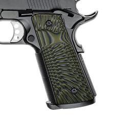 1911 Slim G10 Grips Full Size Magwell Big Scoop Ambi Cut OD Green H1SM-J6SM-21