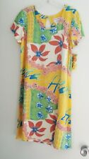 Hula Moon Jams World Womens Short Sleeve Rayon Aloha Lei W398 Sz L - NWT