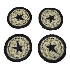 New listing Earth Rugs Round Star Coaster Set of 4