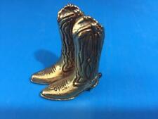 John DeMott Cowboy Boots Small Brass Statue Sculpture