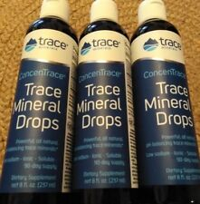 3 x ConcenTrace Trace Minerals Drops 8fl oz bottle 3 PACK