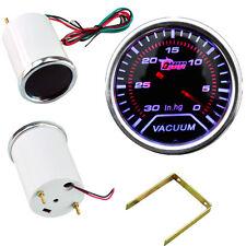"Car Motor Smoke Tint Len 2"" 52mm Indicator Vacuum Gauge Meter Kit In.Hg YY"