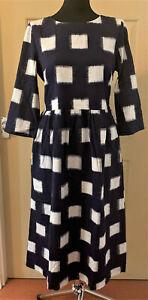 SEASALT Navy Layered Glazes Indigo Hand Loom Dress with pockets szs 10 14 & 20
