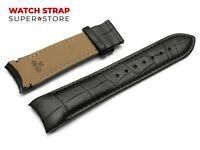 Fits TISSOT Couturier Black Watch Genuine Leather Strap Band 22-24mm For Clasp