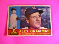 1960 TOPPS baseball Set Break #168 Alex Grammas Cardinals, NmMt High Grade