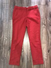 Red J Crew Pants Slacks 6