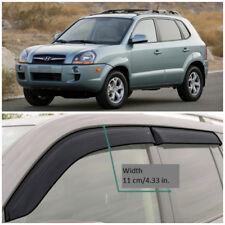 HE21604 Window Visors Guard Vent Wide Deflectors For Hyundai Tucson 2004-2010