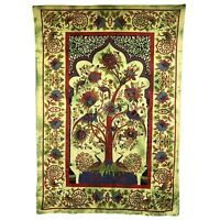 PAGAN/SPIRITUAL ICONIC TREE OF LIFE -GREEN Indian wall hanging/DOUBLE BEDSPREAD.