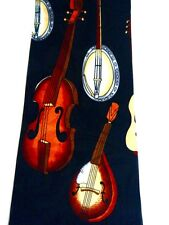 NEW MANDOLIN CELLO GUITAR BANJO STRING INSTRUMENTS MUSIC NECKTIE NECK TIE HARRIS
