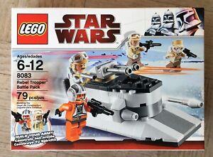 NEW Lego 8083 Star Wars Rebel Trooper Battle Pack FACTORY SEALED