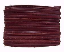weiches Leder Flechtband Ziegenleder auf Karte weinrot, Länge 10 m, Breite ca. 2