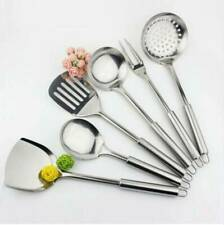 6pcs Stainless Steel Serving Set Kitchen Cooking Utensil Tools Server Spoons
