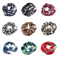 Unisex Men Women Winter Infinity Scarf Pocket Loop Hidden Zipper Pocket Scarves