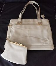 Vintage 1960s Genuine Leather Handbag Made in Italy! Coin Purse & Mirror